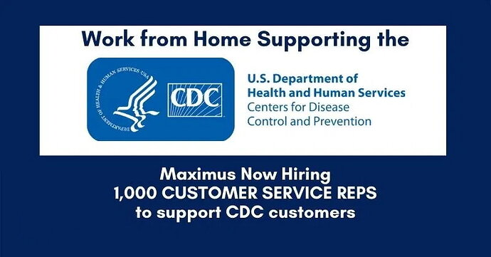 CDC Hiring Work From Home Customer Service Reps